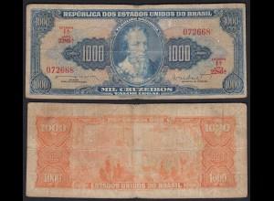 Brasilien - Brazil 1000 Cuzeiros (1962) Pick 173b VG (5) sig.11 (24771