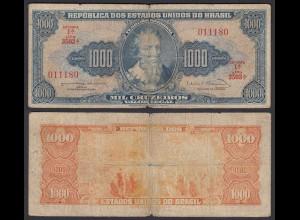 Brasilien - Brazil 1000 Cuzeiros (1963) Pick 173c G (6) sig.12 (24772