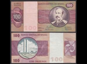 Brasilien - Brazil 100 Cruzados Banknote (1981) Pick 195 Ab VF/XF (2/3) Sig.20