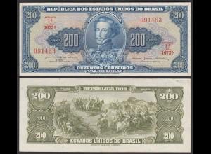 Brasilien - Brazil 200 Cruzados Banknote (1964) Pick 171b VF/XF (2/3) (24783