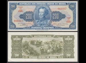 Brasilien - Brazil 200 Cruzados Banknote (1964) Pick 171b UNC (1) (24784