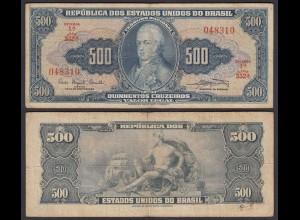 Brasilien - Brazil 500 Cruzados Banknote Pick 172a sig.9 F (4) (24786