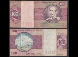 Brasilien - Brazil 2 x 100 Cruzados Banknote (1974) Pick 195 Aa F+ (4+) Sig.18