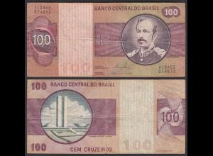 Brasilien - Brazil 100 Cruzados Banknote (1974) Pick 195 Aa F (4) Sig.18