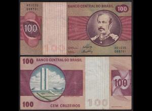 Brasilien - Brazil 100 Cruzaros Banknote (1970-81) Pick 195a VF (3) Sig.17