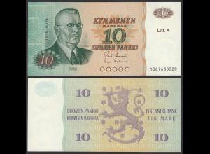 FINNLAND - FINLAND 10 MARKKA 1980 Litt. A PICK 112 UNC (1) (24815