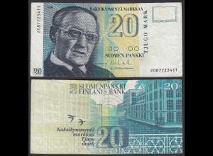 FINNLAND - FINLAND 20 MARKKA 1993 PICK 123 F (4) (24819