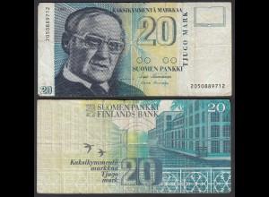 FINNLAND - FINLAND 20 MARKKA 1993 PICK 123 F (4) (24820