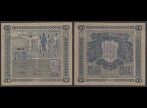 Finnland - Finland 50 Markka Banknote 1922 Pick 64a F/VF (3/4) (24830