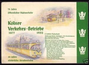 AK Köln Strassenbahn 75 J.Verkehrsbetr.Sonderst. (5904