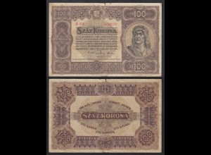 Ungarn - Hungary 100 Korona 1920 Pick 63 VG (5) (24841