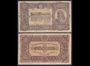 Ungarn - Hungary 100 Korona 1923 Pick 73a F (4) (24849