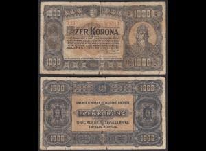 Ungarn - Hungary 1000 Korona 1923 Pick 75a G (6) (24853