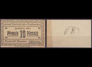 Sachsen Oebisfelde-Kaltendorf - 10 Pfennig Notgeld General-Anzeiger (ca249