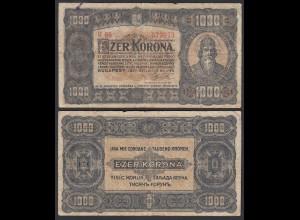 Ungarn - Hungary 1000 Korona 1923 Pick 75b VG (5) (24854