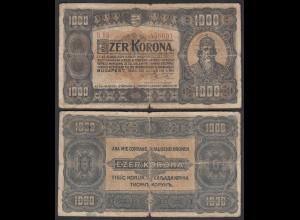 Ungarn - Hungary 1000 Korona 1923 Pick 75a G (6) (24856