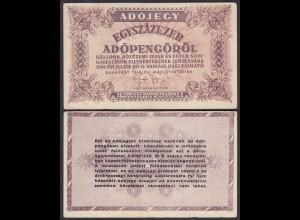 Ungarn - Hungary 100000 Egyszázezer Adopengo 1946 VF- (3-) Pick 144e