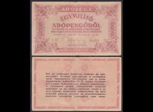 Ungarn - Hungary 1-Million Egymillió Adopengo 1946 F/VF (3/4) Pick 140a