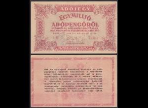 Ungarn - Hungary 1-Million Egymillió Adopengo 1946 Pick 140a XF (2)