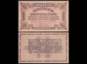 Ungarn - Hungary 100.000 Egyszázezer Adopengo 1946 VF+ (3+) Pick 144b