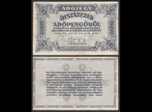 Ungarn - Hungary 500.000 Ötszázezer Adopengo 1946 Pick 139b VF (3)