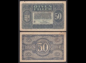 Ungarn - Hungary 50 Filler Banknote 1920 Pick 44 F (4) (24888
