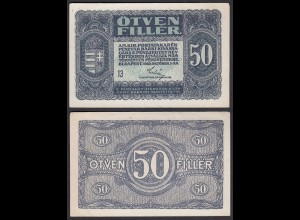 Ungarn - Hungary 50 Filler Banknote 1920 Pick 44 XF (2) (24890