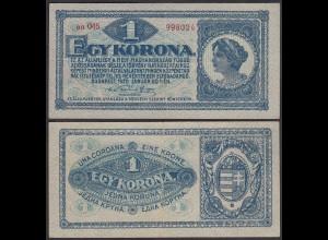 Ungarn - Hungary 1 Korona Banknote 1920 Pick 57 VF/XF (2/3) (24891