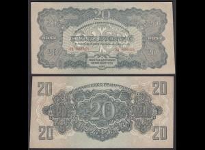 Ungarn - Hungary 20 Pengo Banknote 1944 Pick M6 XF (2) (24899
