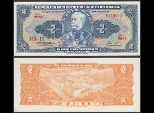 Brasilien - Brazil 2 Cruzaros (1958) Pick 151b UNC (1) sig.6 (24909