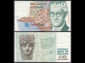 IRLAND - IRELAND 10 POUND Banknote 1995 Pick 76b F/VF (3/4) (24933