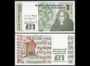 IRLAND - IRELAND 1 POUND Banknote 1984 Pick 70c aUNC (1-) (24942