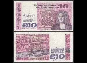 IRLAND - IRELAND 10 POUND Banknote 1991 Pick 72c F+ (4+) (24945