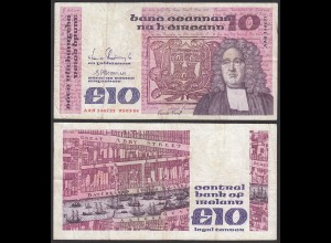 IRLAND - IRELAND 10 POUND Banknote 1988 Pick 72c F (4) (24946