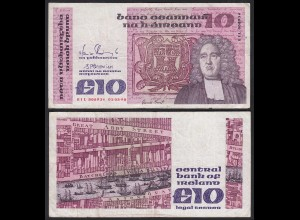 IRLAND - IRELAND 10 POUND Banknote 1990 Pick 72c F+ (4+) (24948