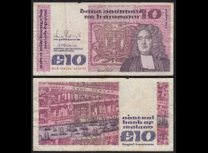 IRLAND - IRELAND 10 POUND Banknote 1991 Pick 72c F (4) (24949
