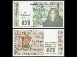 IRLAND - IRELAND 1 POUND Banknote 1989 Pick 70d aUNC (1-) (24951