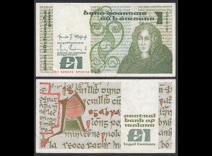 IRLAND - IRELAND 1 POUND Banknote 1986 Pick 70c VF (3) (24954