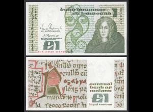 IRLAND - IRELAND 1 POUND Banknote 1989 Pick 70d aUNC (1-) (24955