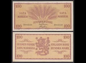 FINNLAND - FINLAND 100 MARKKA 1957 PICK 97a VF (3) (24961