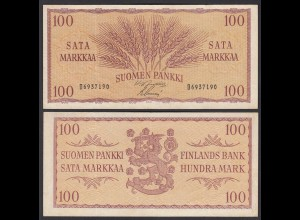 FINNLAND - FINLAND 100 MARKKA 1957 PICK 97a VF (3) (24964
