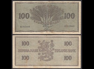 FINNLAND - FINLAND 100 MARKKA 1955 PICK 91a F (4) (24966