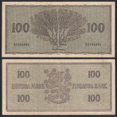 FINNLAND - FINLAND 100 MARKKA 1955 PICK 91a F (4) (24968