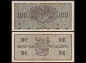 FINNLAND - FINLAND 100 MARKKA 1955 PICK 91a VF (3) (24969