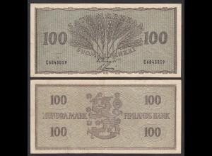 FINNLAND - FINLAND 100 MARKKA 1955 PICK 91a VF (3) (24970