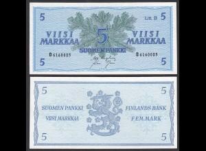 FINNLAND - FINLAND 5 MARKKA 1963 PICK 106Aa UNC (1) (24972