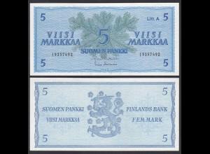 FINNLAND - FINLAND 5 MARKKA 1963 PICK 103a UNC (1) (24973