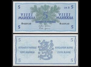 FINNLAND - FINLAND 5 MARKKA 1963 PICK 106Aa VF (3) (24974