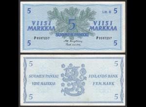 FINNLAND - FINLAND 5 MARKKA 1963 PICK 106Aa VF+ (3+) (24978