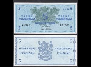 FINNLAND - FINLAND 5 MARKKA 1963 PICK 106Aa UNC (1) (24979